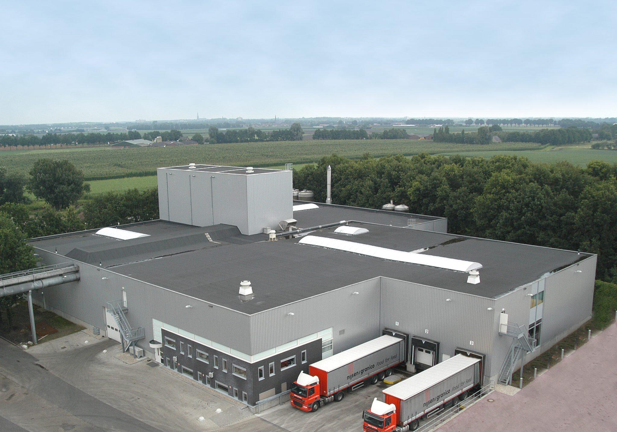 Food-fabriek verwerking nevenproducten levensmiddelenindustrie