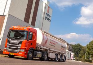 duurzamere trekker voor bulkwagen. minder CO2-uitstoot, lager brandstofverbruik